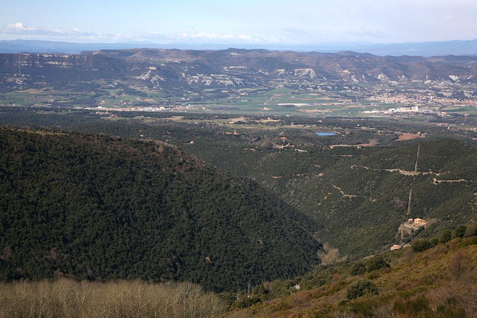 Plana de Vic. Vista des dels voltants de Sant Segimon                      © Imatge Jordi Bastart